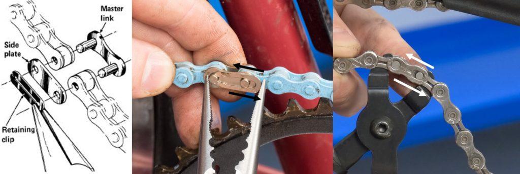 Cara kerja missing link pada rantai sepeda