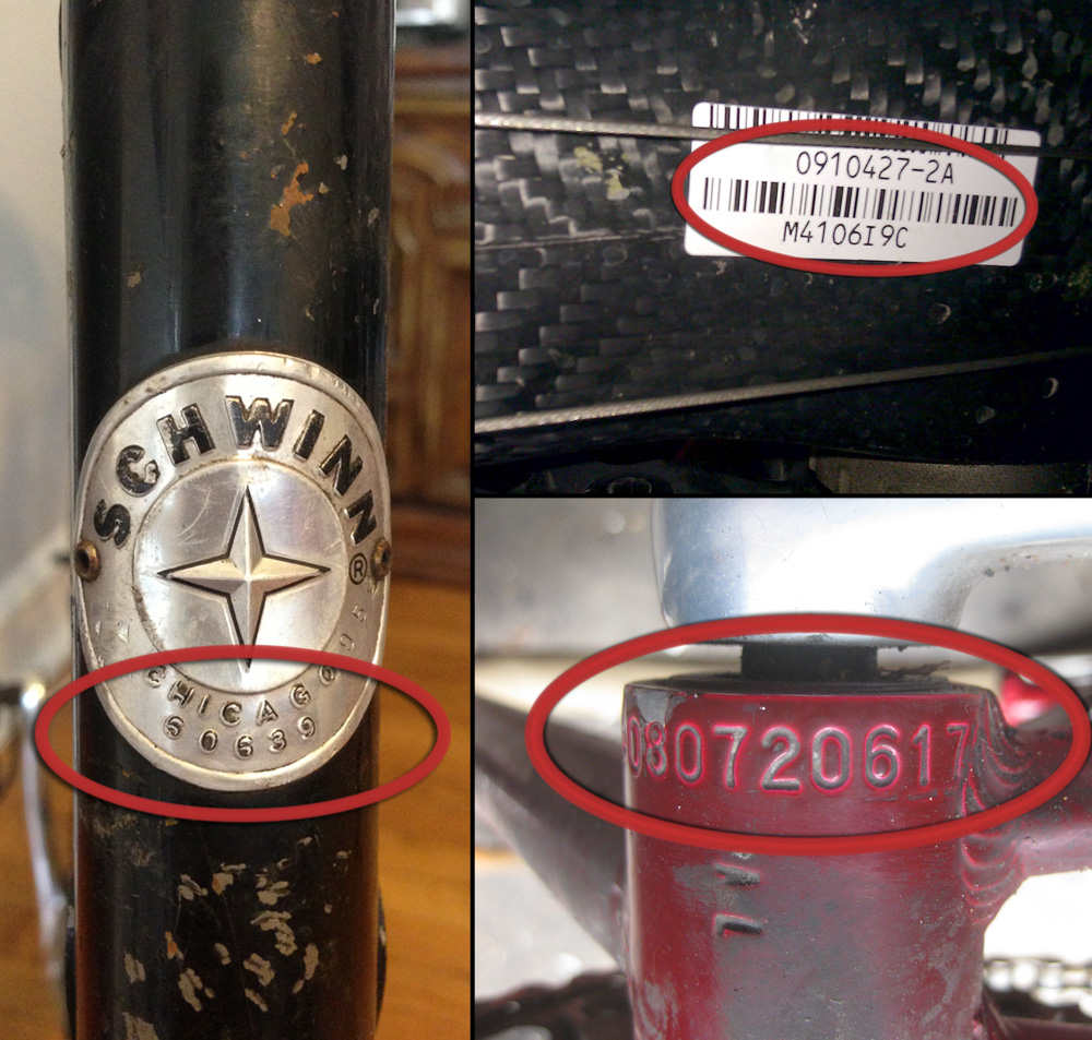 Contoh nomor rangka sepeda