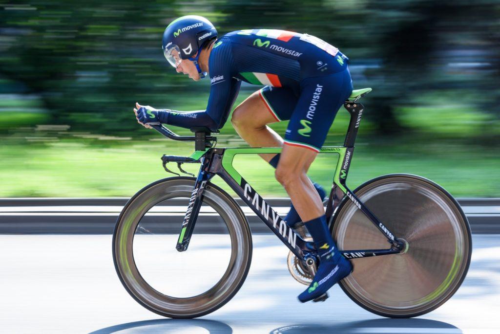 Pembalap yang memaksimalkan aerodinamis