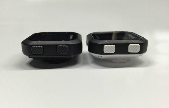 Perbedaan warna Garmin Edge 20 (kiri) dan Edge 25 (kanan)