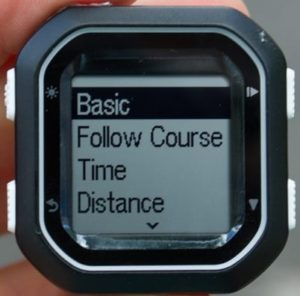 Training mode Garmin Edge 25