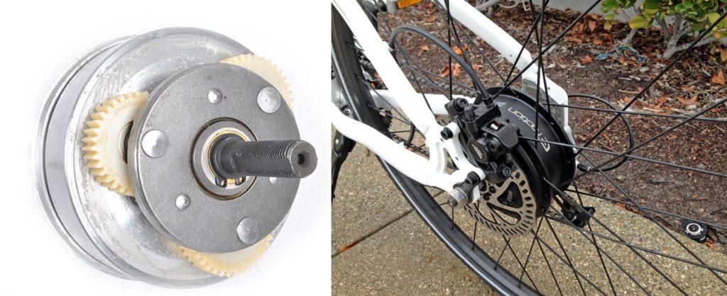 Geared Drive Motor pada sepeda listrik