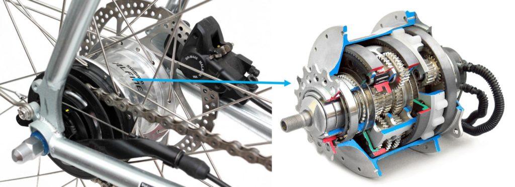 Hub Gear Sepeda