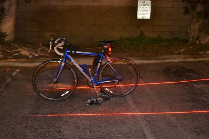 Lampu projector jalur sepeda