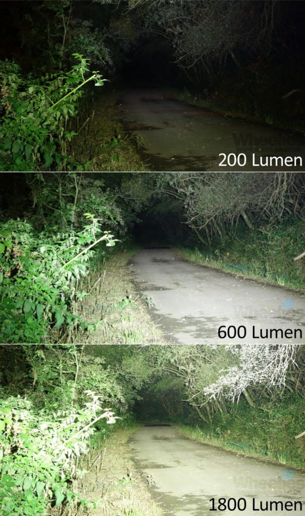 Perbandingan lumens pada cahaya lampu sepeda