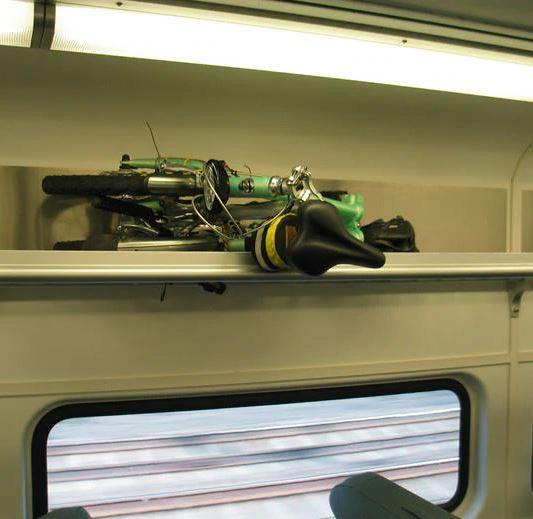 Sepeda Lipat di Kereta