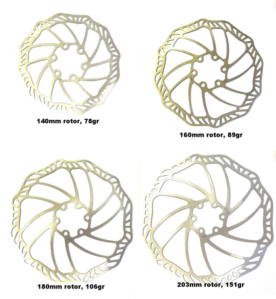 Diameter rotor pada disc brake