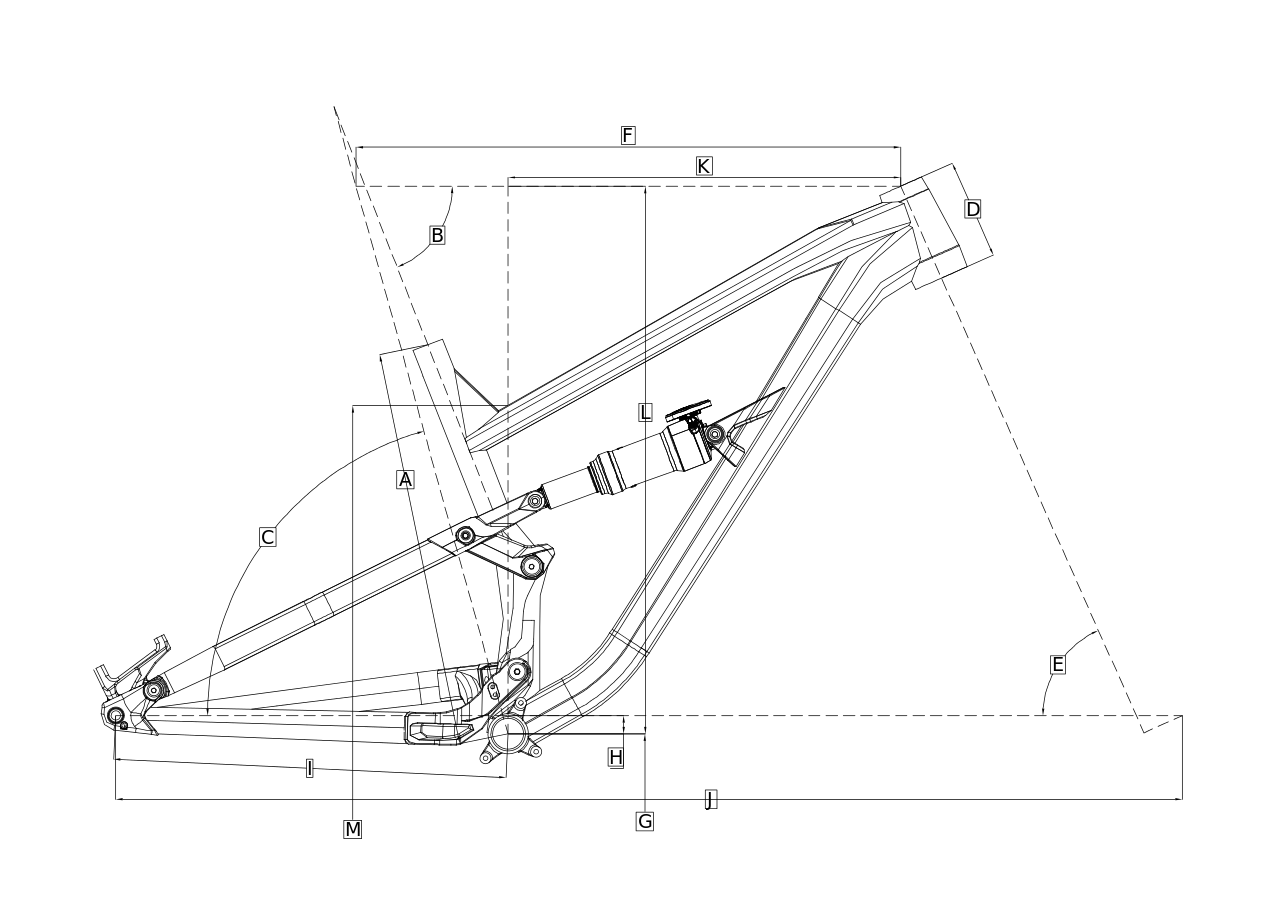 Geometri Rangka Sepeda Gunung Polygon Siskiu D7 2019