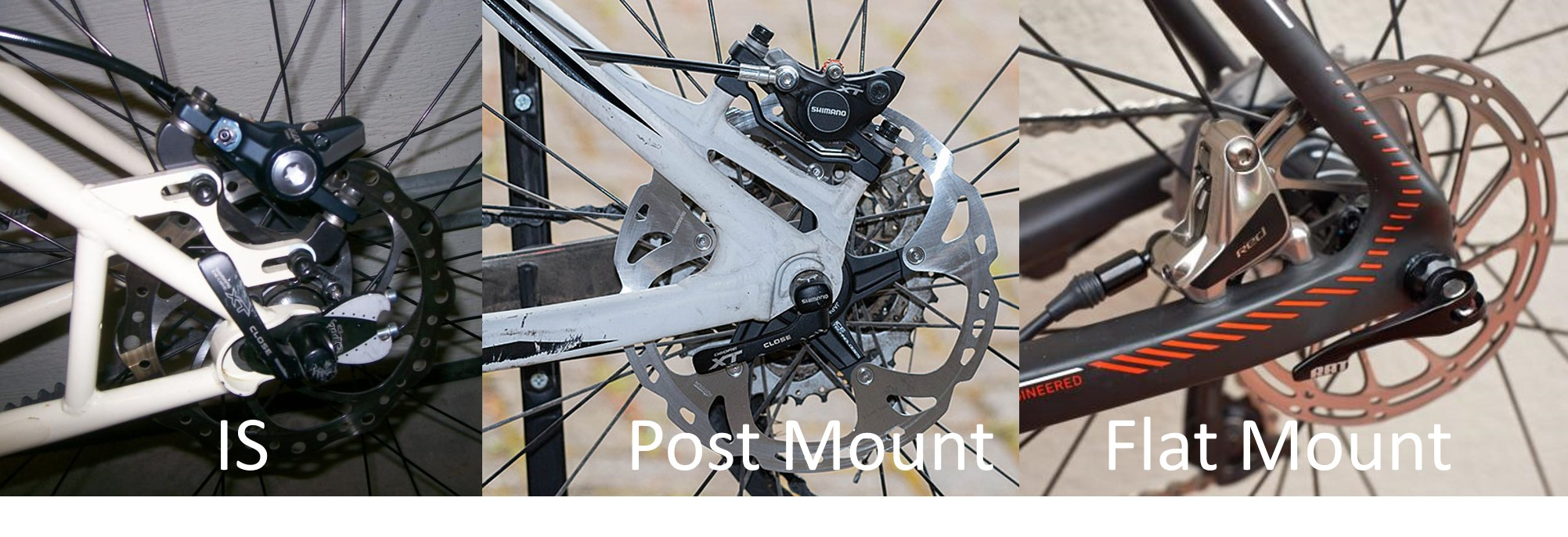 Jenis mounting disc brake pada frame sepeda