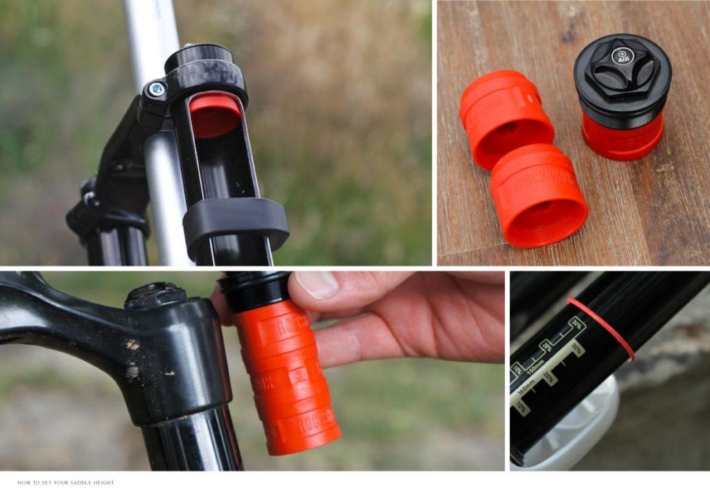 Spacer pada air spring untuk merubah volume tekanan dan sag