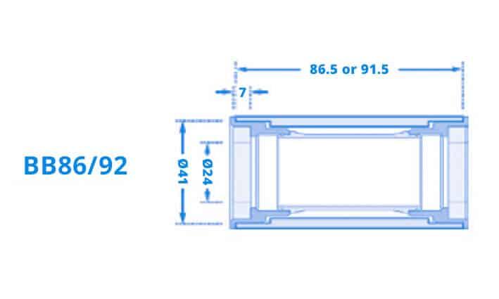 Dimensi Bottom Bracket B86-92
