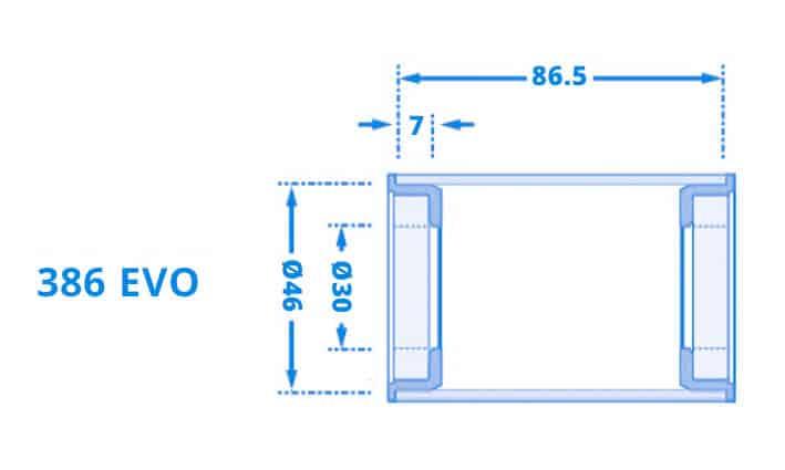 Dimensi Bottom Bracket BB-386EVO