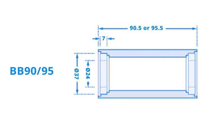 Dimensi Bottom Bracket BB90-95
