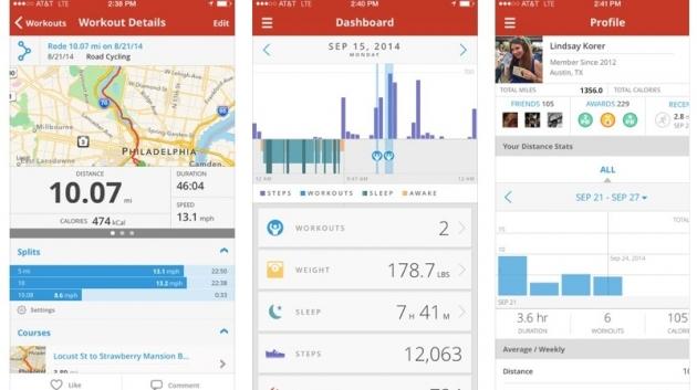 Map My Ride - Tampilan Aplikasi2
