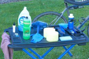 Perlengkapan khusus untuk mencuci sepeda