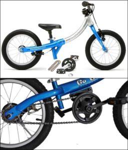 Mengubah balance bike menjadi sepeda biasa