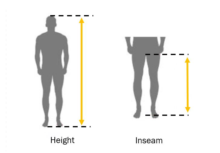 Mengukur inseam kaki