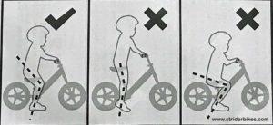 Posisi duduk pada balance bike