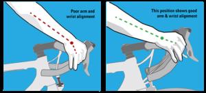 posisi tangan pada rem sepeda balap