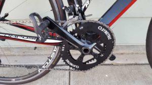 Osymetric chainring pada road bike