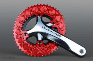 Oval chainring absoluteblack untuk sepeda balap