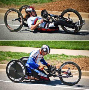 balap sepeda difabel dengan handcycle