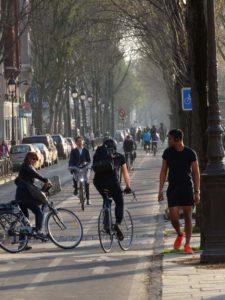 Jalur khusus sepeda dua arah