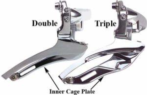 Derailleur cage double dengan triple