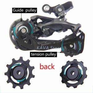 Guide dan tension pulley derailleur belakang sepeda