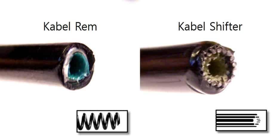 Perbedaan kabel rem dengan kabel shifter