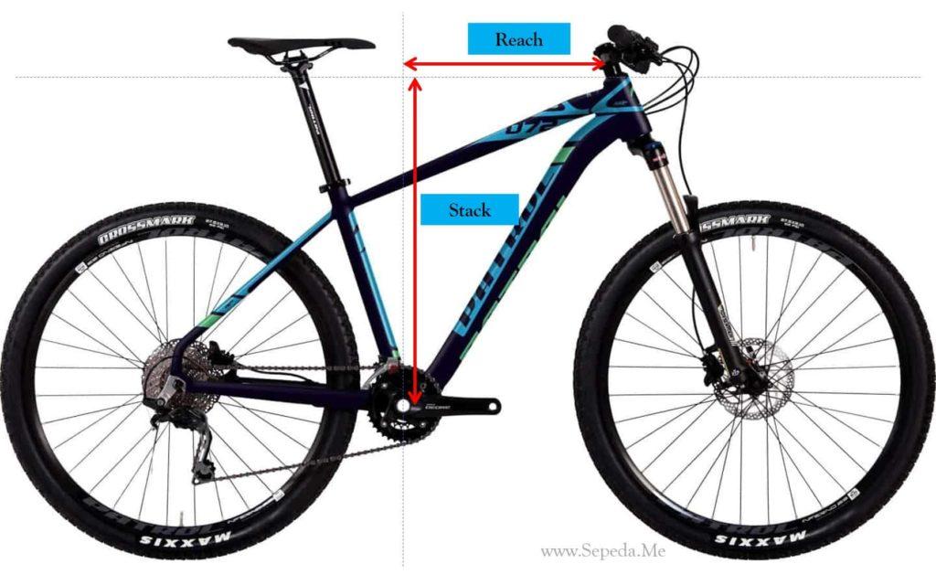 Stack dan reach pada frame sepeda