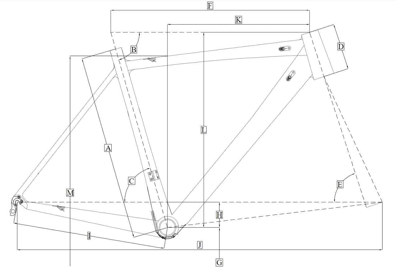 Dimensi geometri frame sepeda Sepeda.Me