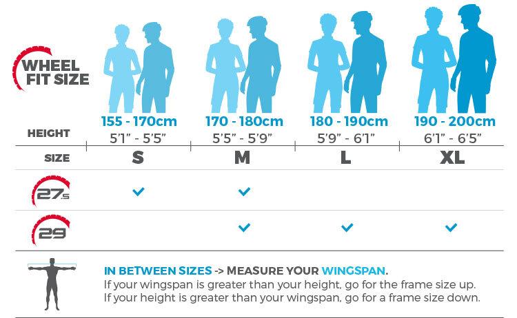 Tabel panduan ukuran sepeda Polygon