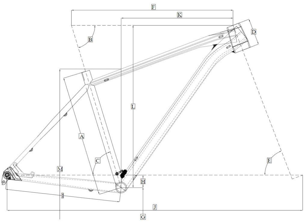 Dimensi rangka Polygon XTRADA 6 2019