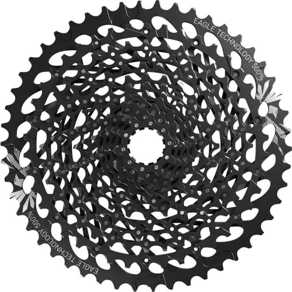 Cassette SRAM 12 speed 10-50T, gear range 500%
