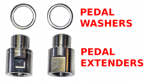 Pedal extender dan pedal washer