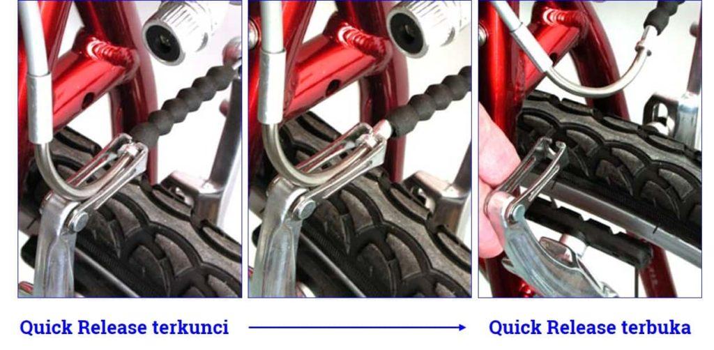 Cara membuka noodle v-brake