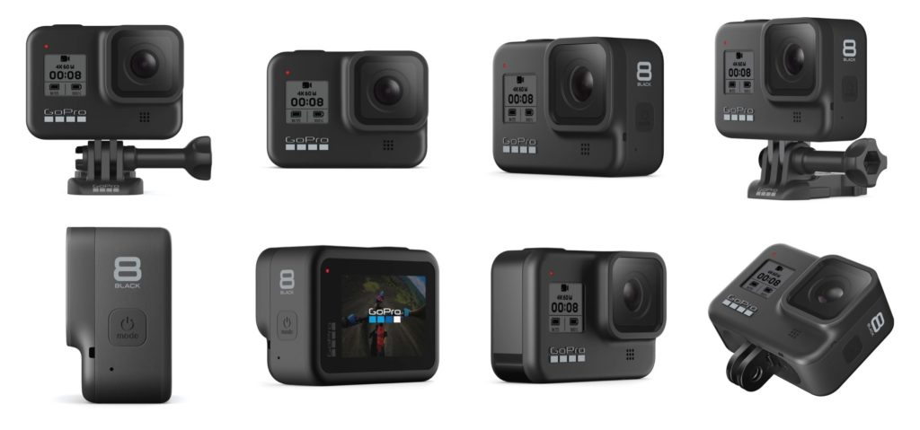 GoPro Hero 8 Black from various angle