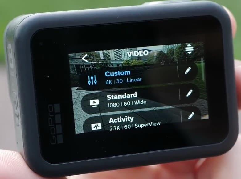Pengaturan Kamera aksi GoPro Hero 8 Black