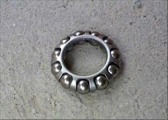 caged ball bearing