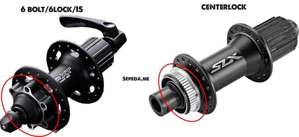 Perbedaan hub roda 6 lock dan centerlock