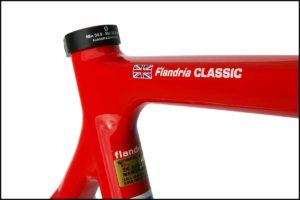 Label nama top tube sepeda balap