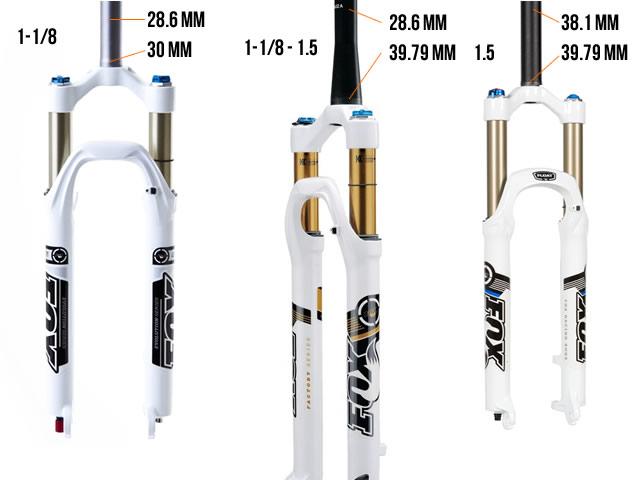 Ukuran steer tube fork pada sepeda