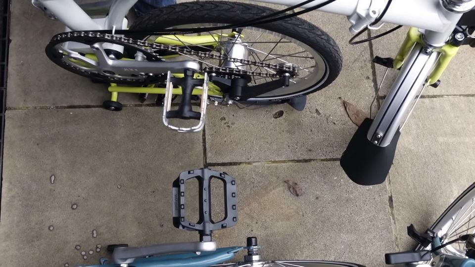 Perbedaan Pedal Brompton B75 dan folded pedal