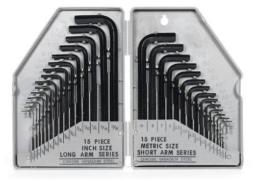 1 set Kunci L dengan ukuran metric dan Inchi
