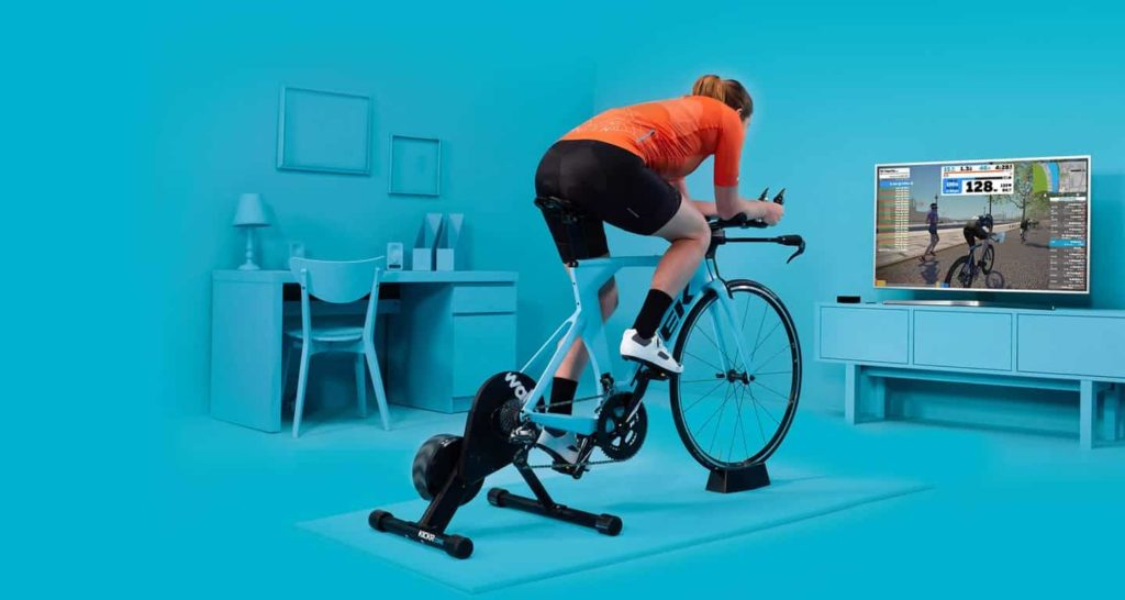 Aplikasi game dan simulasi sepeda indoor
