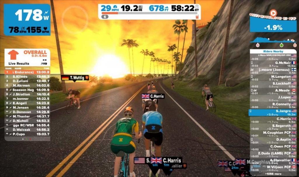 Balapan sepeda virtual online
