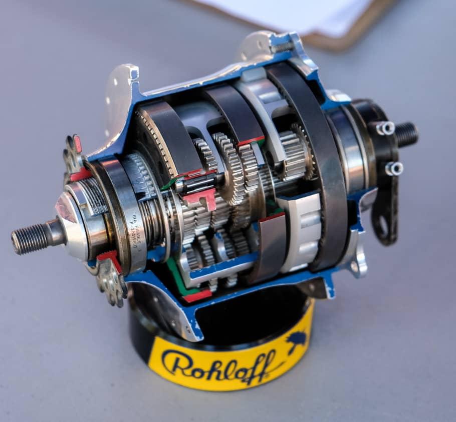 Komponen di dalam gear hub