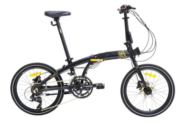 Sepeda Lipat Element Ecosmo Z8 Black Panther Edition