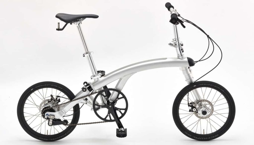 Sepeda Lipat Iruka dengan internal hub gear